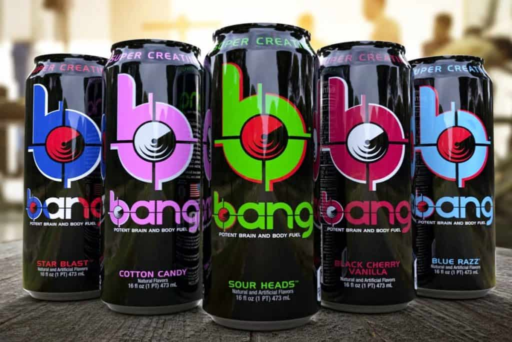 bang energy drinks on a table - post on Is Bang Bad For You