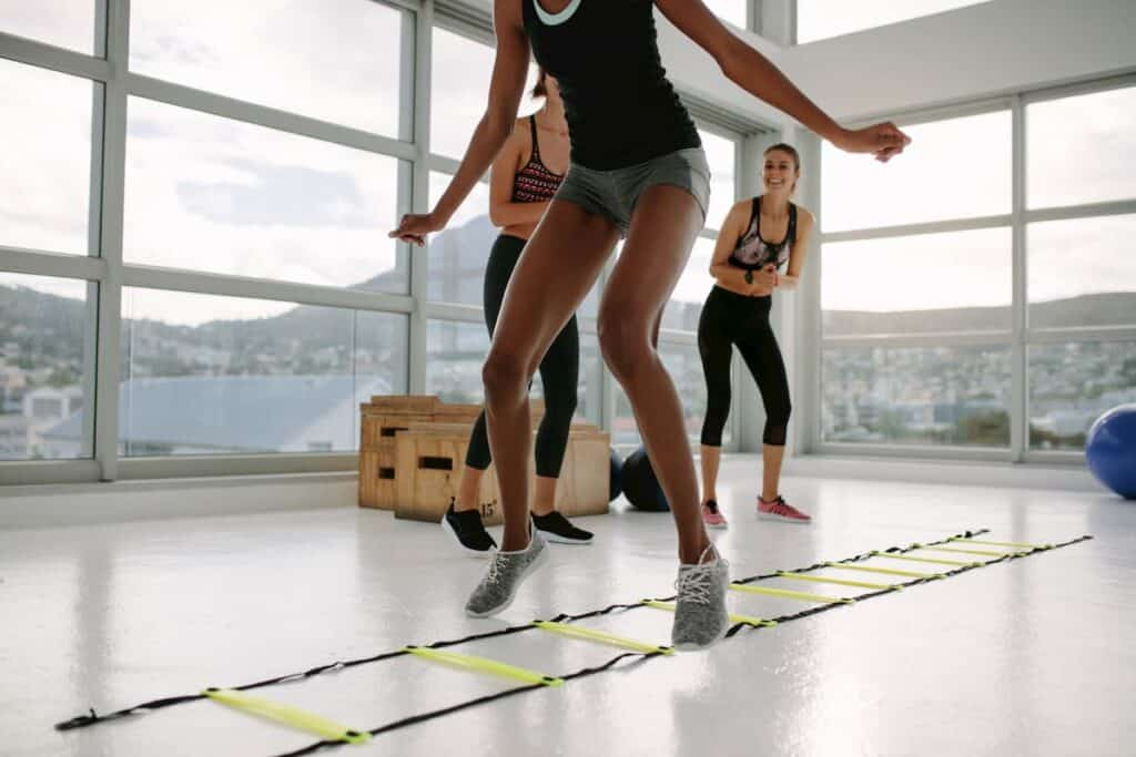 Agility Ladder is used to help speed your feet up - what are the components of physical fitness
